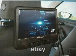 SilverCrest In Car Twin Headrest 9 Inch Screen Portable DVD Player New Sealed