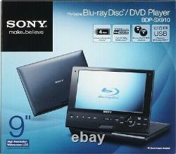 Sony (BDP-SX910) BLUE Portable BLU-RAY & DVD Player 9 INCH widescreen LCD