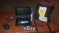 Sony BDP-SX910 Portable Blu-ray Disc/DVD Player, (9Screen) & Carry Bag, NICE