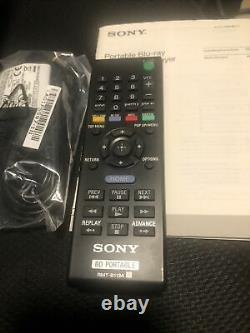 Sony BDP-SX910 Portable Blu-ray Player Manual Remote 12v Adapter Nice
