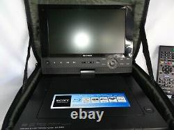 Sony BDP-SX 910 Portable DVD/Blue Ray Player With Case Logic Hanging Car Case
