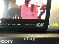 Sony DVD Walkman Portable DVD/CD Player D-VE7000S TESTED WORKS