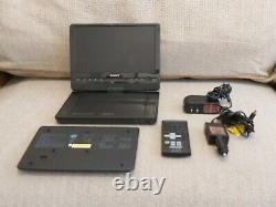 Sony DVPFX930 9-Inch Portable DVD Player Blue with Carry case -2 pin charger