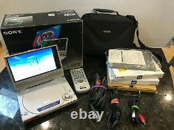 Sony DVP-FX1 Portable CD/DVD Player With New Battery Pack Excellent With Box