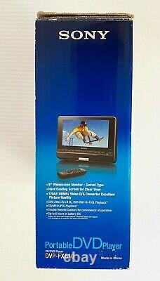 Sony DVP-FX810 Portable Widescreen DVD Player 8-Inch Black with wireless remote