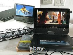 Sony DVP-FX825 8 Portable DVD Player With Remote, Power, Manual EUC