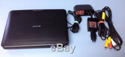 Sony DVP-FX970 Portable DVD Player (9) Home & Car charger A/V Cable Excellent