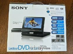 Sony Portable DVD Player (NIB) 8 Swivel Display With Battery, Charger, Remote