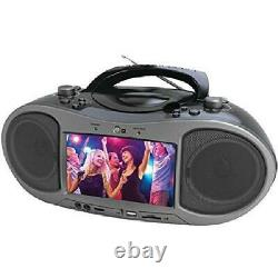 Stereo Bluetooth DVD Boombox CDs MP3s Players With AM/FM Radio Home Portable New