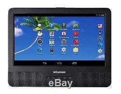 Sylvania 9-Inch 2-in-1 Portable DVD Player, and Android Wi-Fi Tablet High