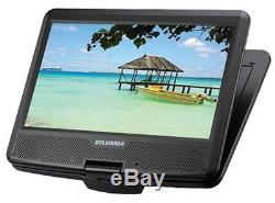 Sylvania SDVD1048 10-Inch Portable DVD Player, 5 Hour Rechargeable Battery, with