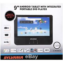 Sylvania SLTDVD9220 9-Inch 2-in-1 Portable DVD Player and Android Wi-Fi Tablet