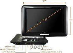 Trexonic 15.4 Inch Portable DVD Player with TFT-LCD Screen and USB/SD/AV Inputs