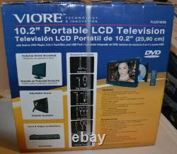 Viore 10.2 169 Portable LCD TV With Built-in DVD Player PLCD10V59 new remote