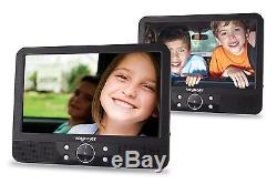 Voyager 9 inch In Car Portable DVD Twin Player with Easy Fit Mount