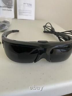 Vuzix Wrap 920 Video Eyewear Glasses With Portable DVD Player + Tested