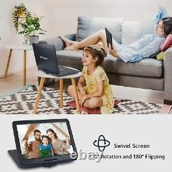WONNIE 17.9 Large Portable DVD/CD Player with 6 Hrs Rechargeable Battery
