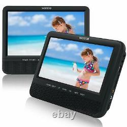 WONNIE 7.5 Inch Dual Portable DVD Player for Car Two Screens (play same movies)