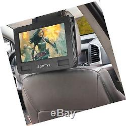 ZESTYI 9 Portable DVD Player for Kids with Car Headrest Mount 3 Hours Rechar